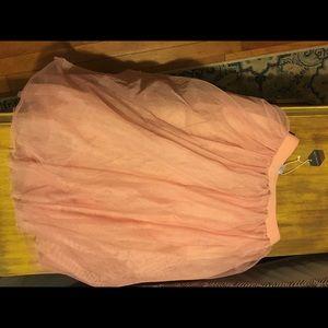 b9f1f0380bd31 Pinkblush Skirts | Pink Tulle Mesh Midi Maternity Skirt | Poshmark